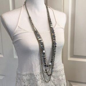 NWOT - LOFT 4-Strand Silver Necklace